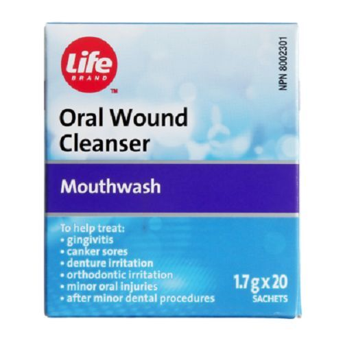 Life Brand Oral Wound Cleanser (generic Oral B Amosan Sachets)