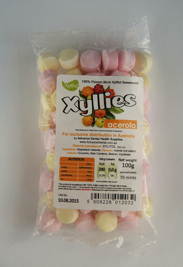 Xyllies 100g Xylitol Sweets (Acerola Fruit)