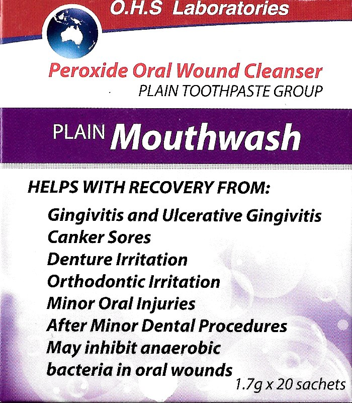 Peroxide Oral Wound Cleanser (generic Oral B Amosan Sachets)